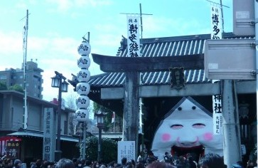 節分大祭 櫛田神社周辺様子
